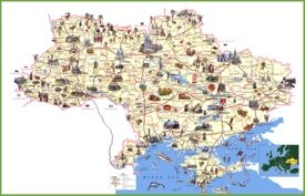 Ukraine travel map