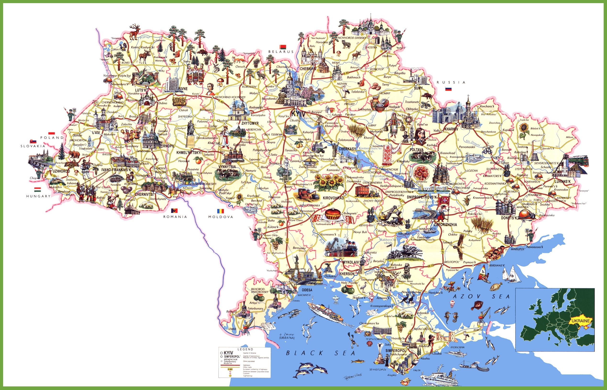 Ukraine travel map sciox Image collections