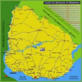 Uruguay road map