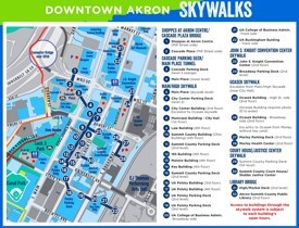 Akron downtown skywalks map