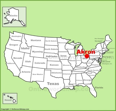 Akron Maps Ohio US Maps of Akron