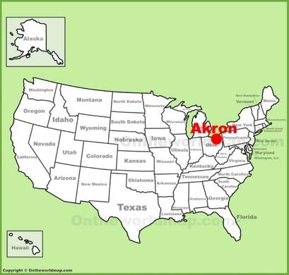 Akron Ohio Map Akron Maps | Ohio, U.S. | Maps of Akron