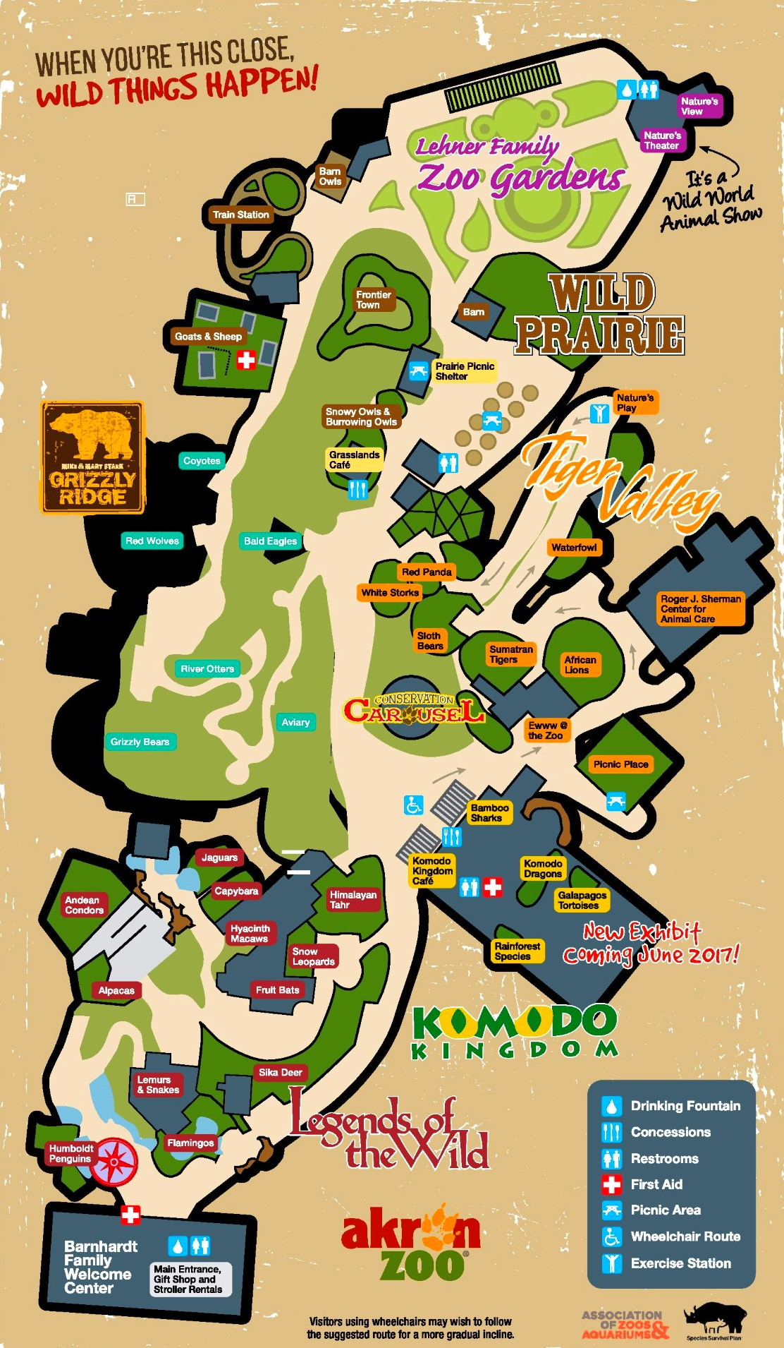 Akron Zoo map