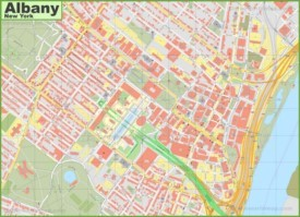 Albany downtown map