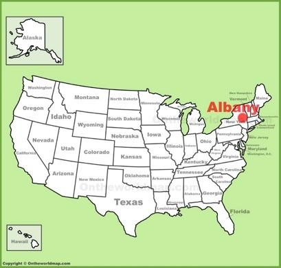 Albany Location Map