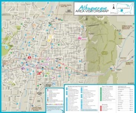 Albuquerque area tourist map