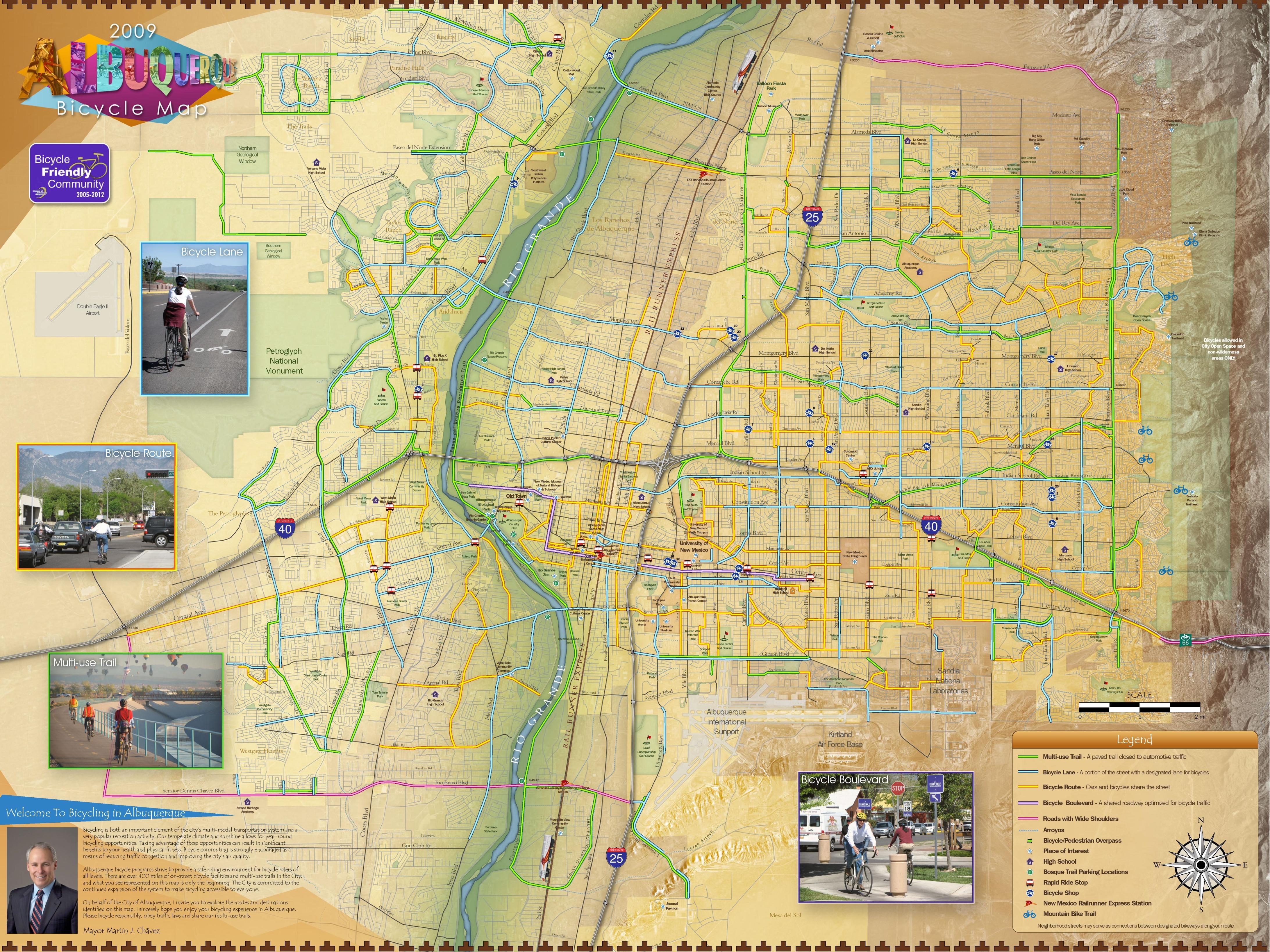 Albuquerque Bike Map - Albuquerque map