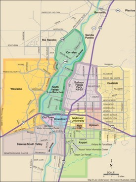Albuquerque neighborhoods map