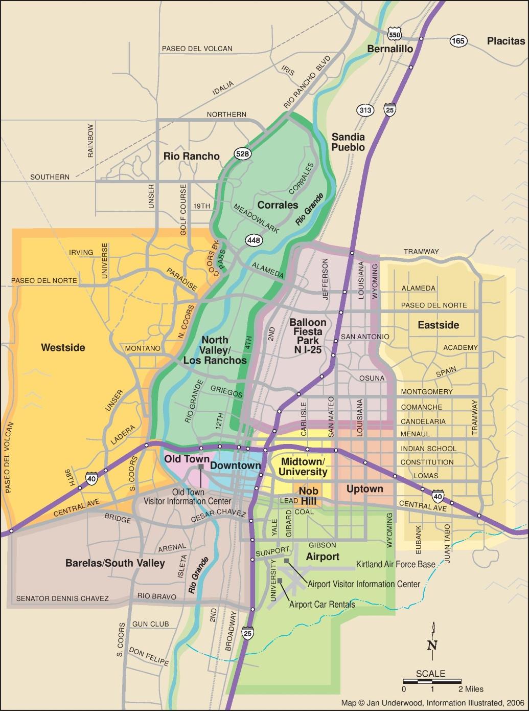 Albuquerque Maps New Mexico US Maps Of Albuquerque - Us map albuquerque