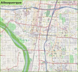 Large detailed map of Albuquerque