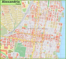 Alexandria downtown map