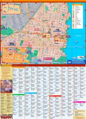 Alexandria hotels and sightseeings map
