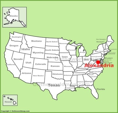 Alexandria Location Map