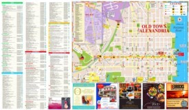 Alexandria tourist attractions map
