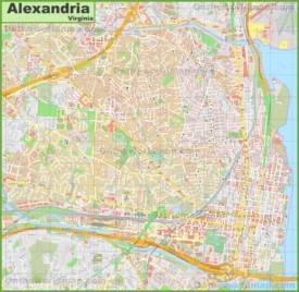 Large detailed map of Alexandria