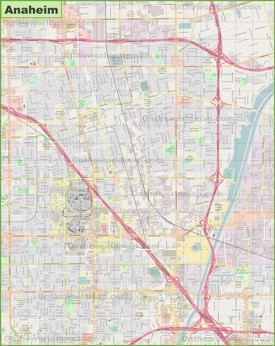 Anaheim Maps California US Maps of Anaheim