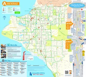 Anchorage bike map