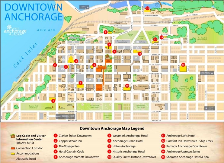 Anchorage Hotels Downtown Map