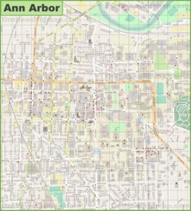 Ann Arbor downtown map
