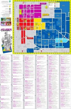 Ann Arbor tourist attractions map