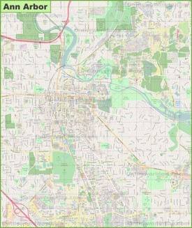 Large detailed map of Ann Arbor
