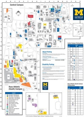 Ann Arbor - University of Michigan campus map