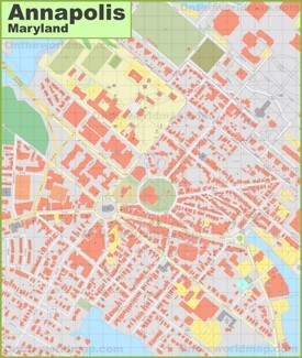Annapolis downtown map