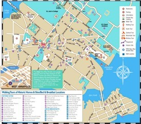 Annapolis hotels and sightseeings map