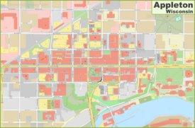Appleton downtown map