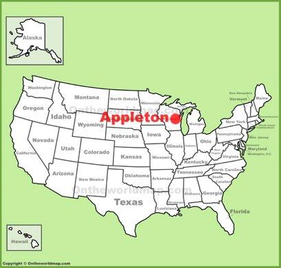Appleton Location Map