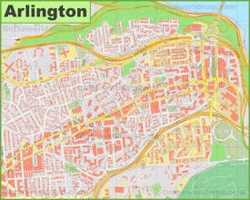 Arlington downtown map