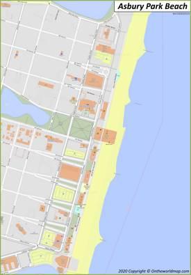 Asbury Park Beach Map