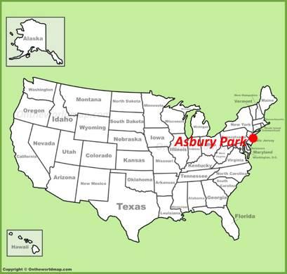 Asbury Park Location Map