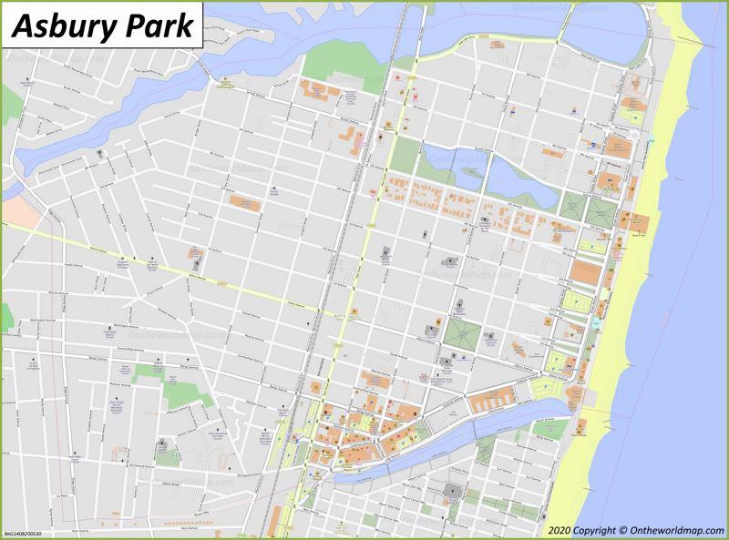 Map of Asbury Park