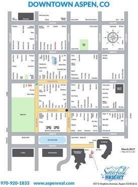 Aspen downtown map