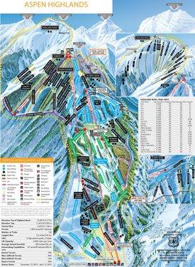 Aspen highlands ski trail map