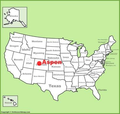 Aspen Location Map