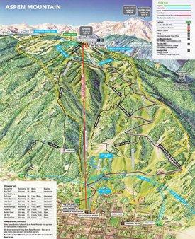 Aspen Mountain hiking map
