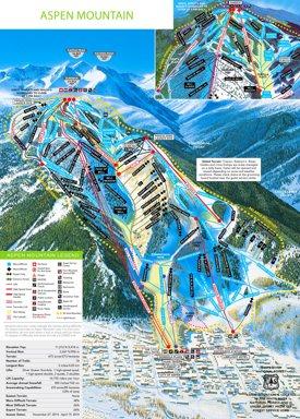 Aspen Mountain ski trail map