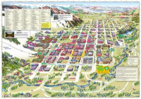 Aspen tourist map