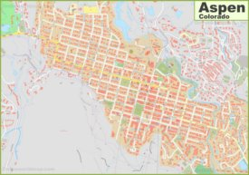 Large detailed map of Aspen