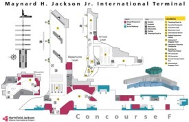 Atlanta airport international terminal F map