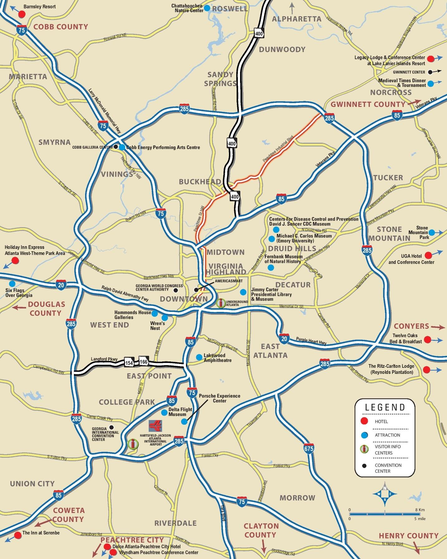 Map Of Atlanta Area Atlanta area map