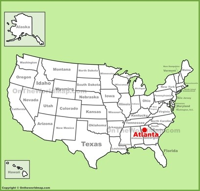 Us Map Georgia Atlanta Maps | Georgia, U.S. | Maps of Atlanta