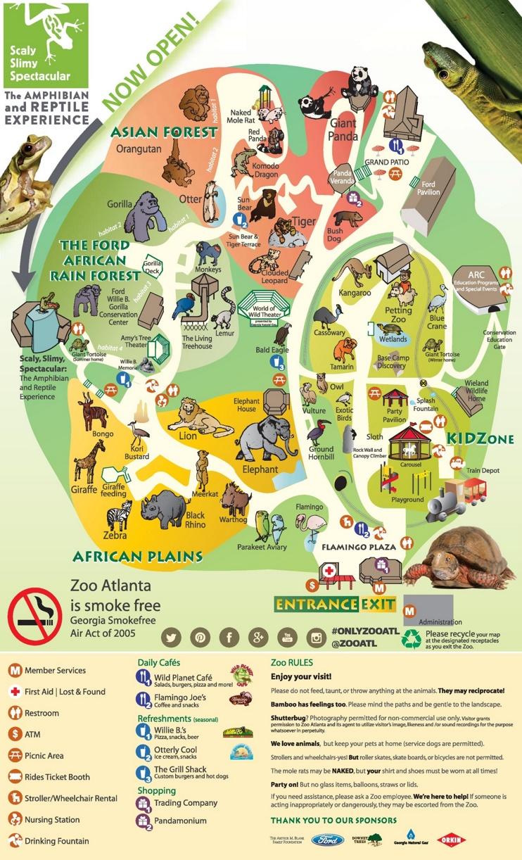 Atlanta Zoo Map