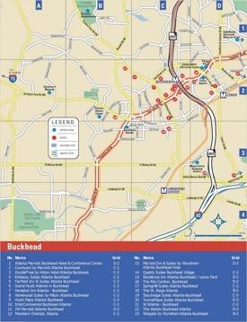 Buckhead hotel map