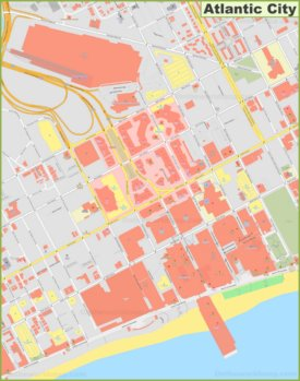 Atlantic City downtown map