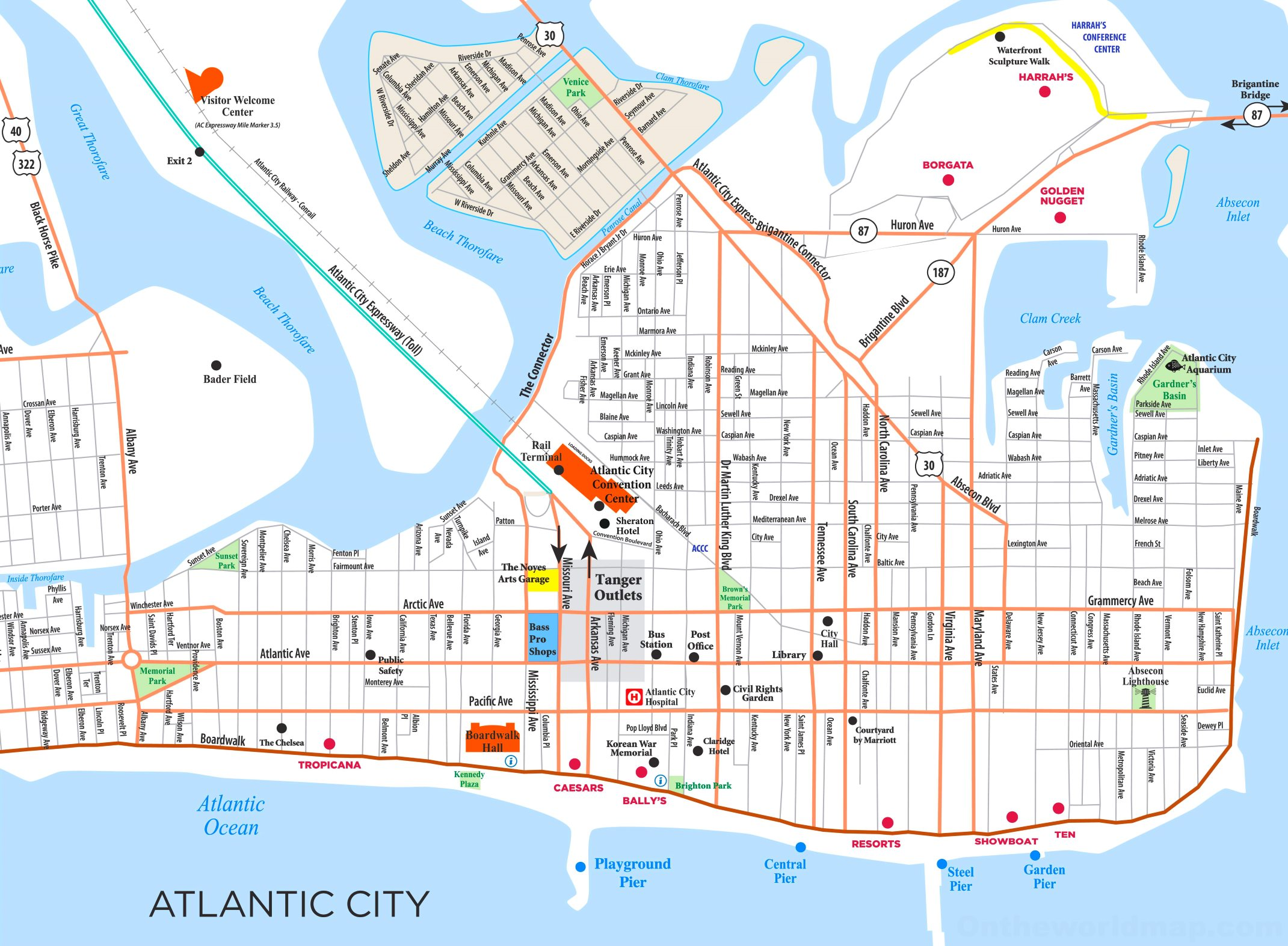 Map Atlantic City