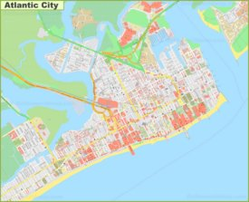 Large detailed map of Atlantic City