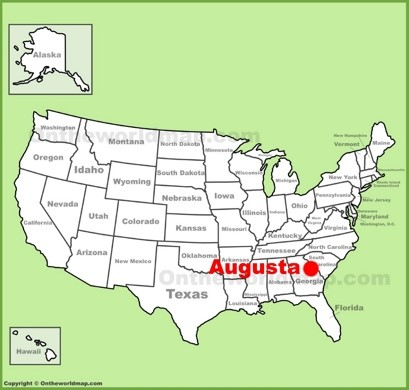 Augusta Location Map